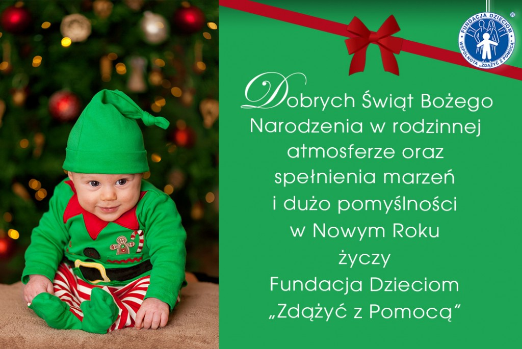 Kartka swiateczna Fundacji Dzieciom
