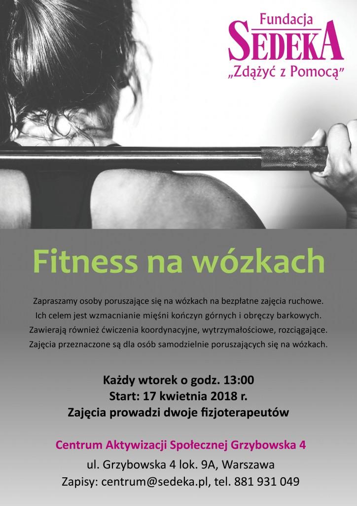 fitness na wózkach_plakat