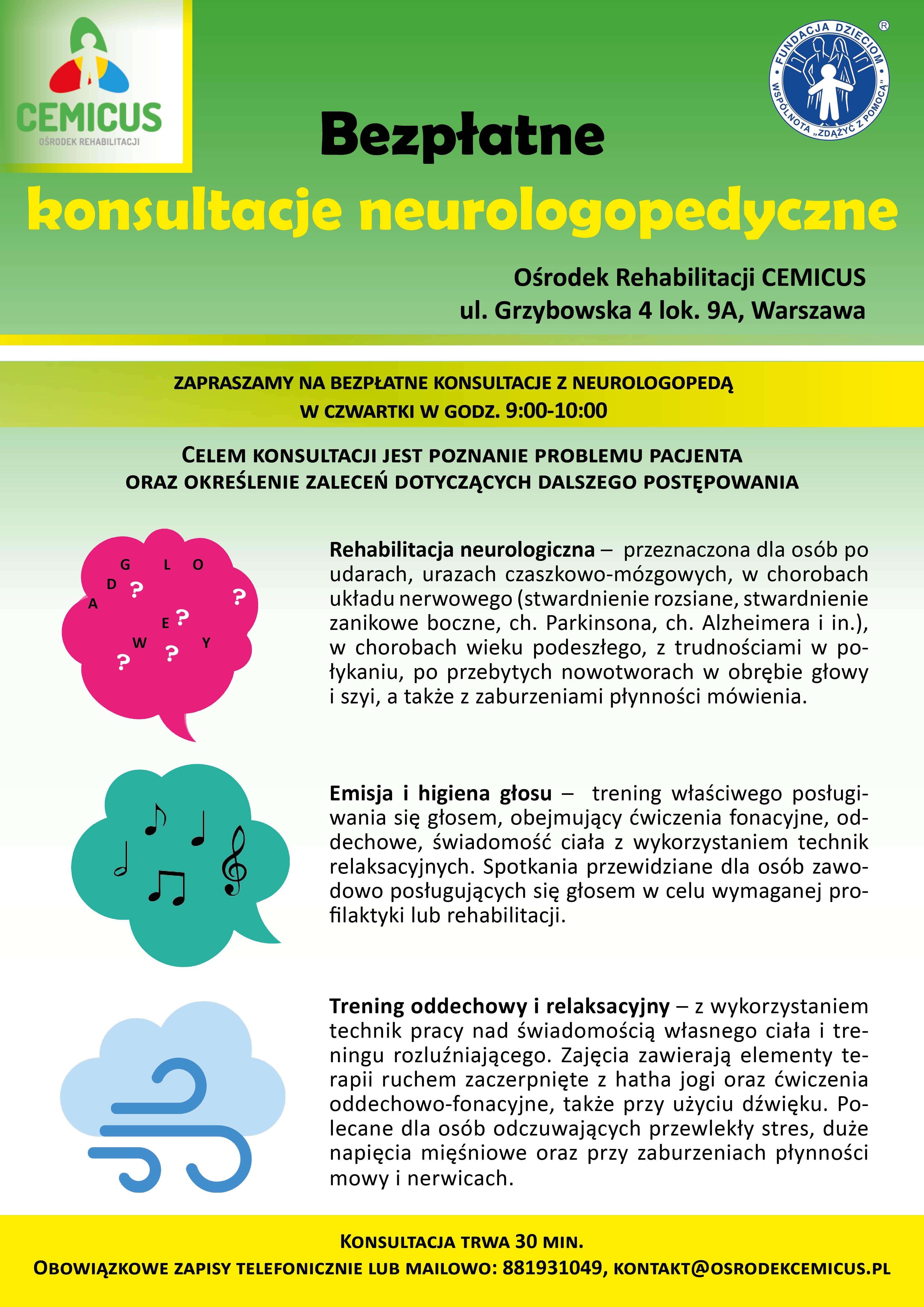 zapraszamy na bezpłatne konsultacje z neurologopedą5
