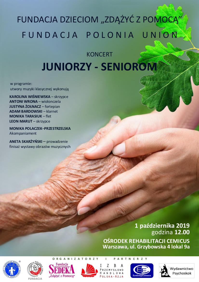 Plakat JUNIORZY SENIOROM