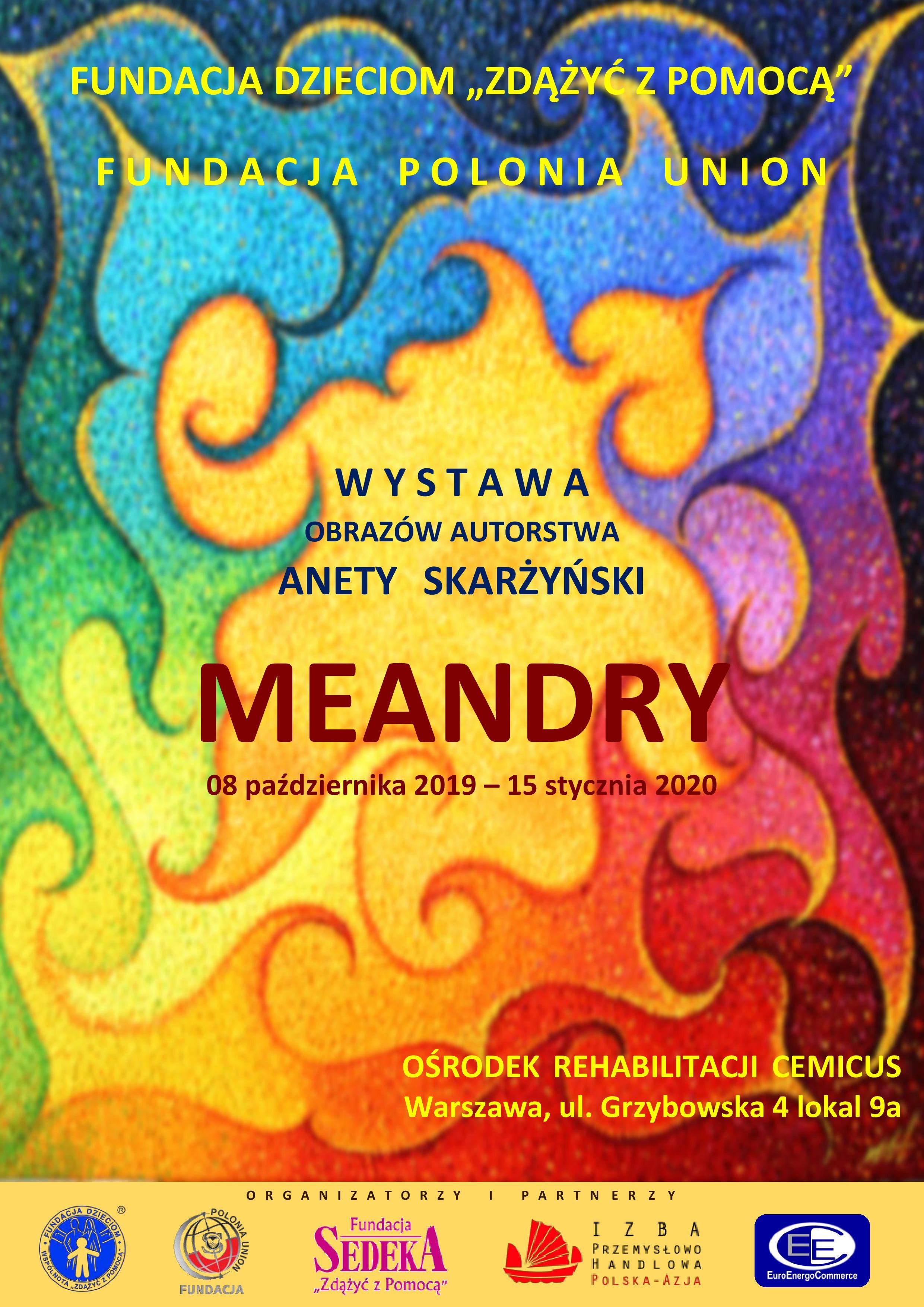 Plakat wystawy MEANDRY